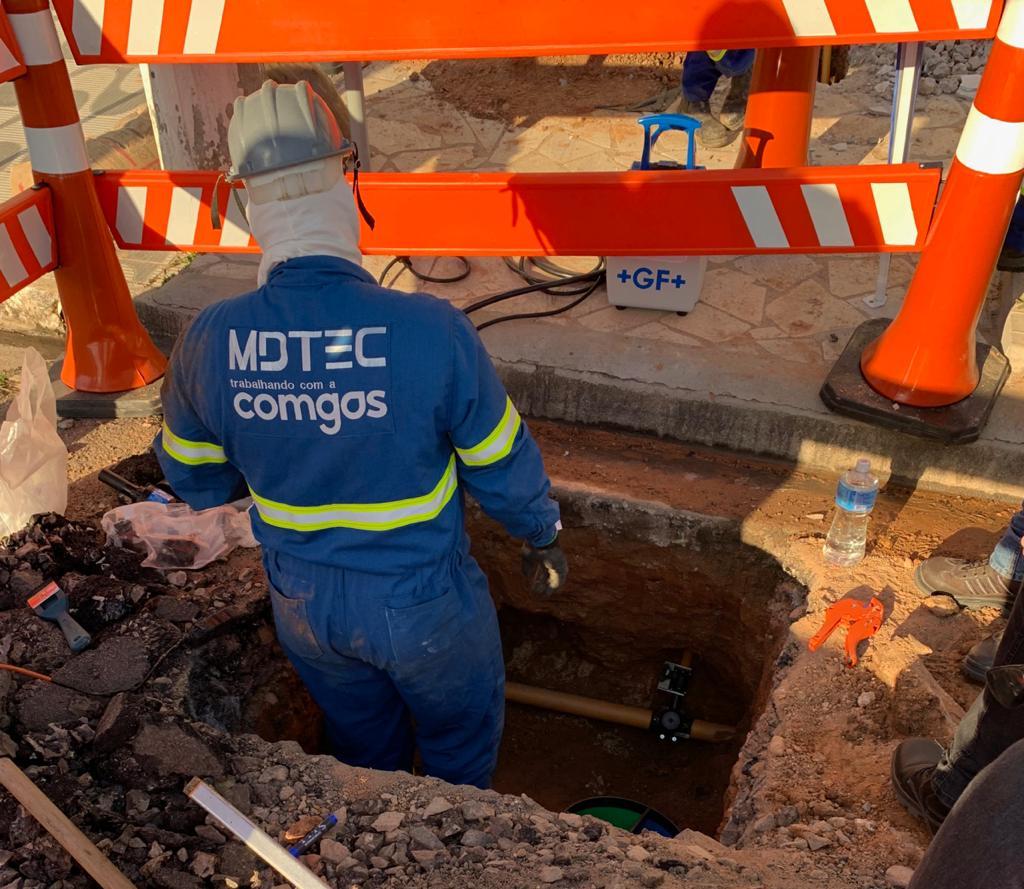 MDTEC trabalha em novo contrato de instalação na área de gás